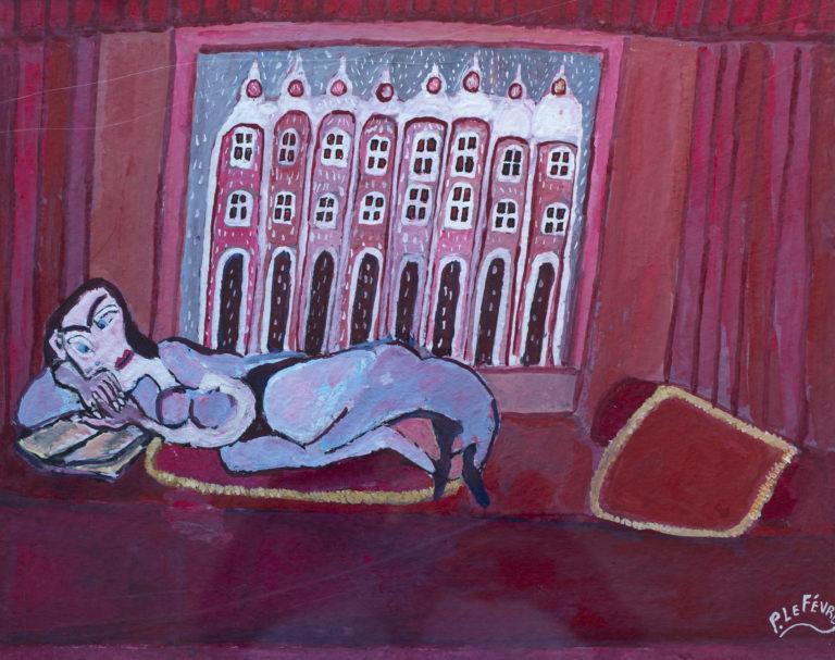 872 - Lefèvre - 01-19-04. Femme couchée lisant